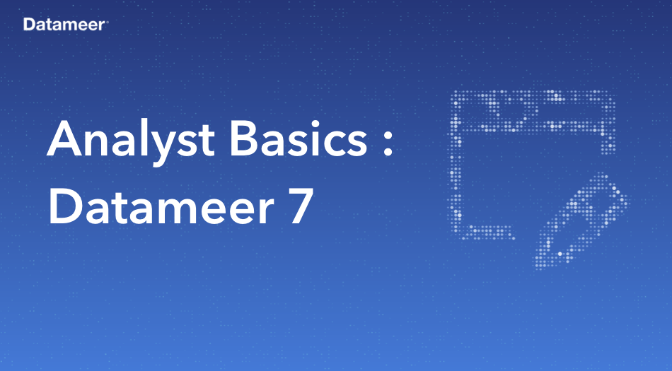 Datameer Analyst Basics For Datameer 7