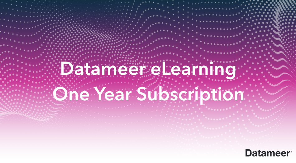 One Year Subscription to Datameer eLearning