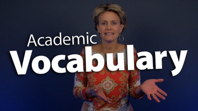 'Increase Test Success with Academic Vocabulary'