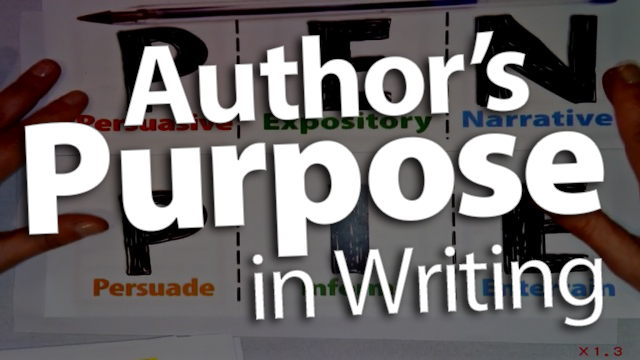 'Connect Modes of Writing to Author's Purpose'