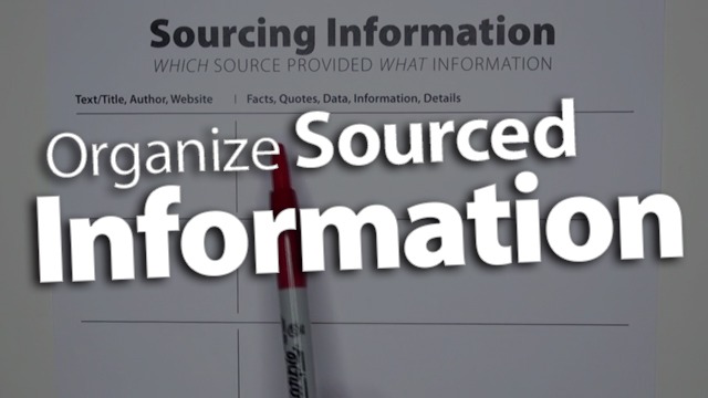 'Organize Information Collected from Sources'