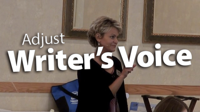 'Adjust Writer's Voice for Purpose & Audience'