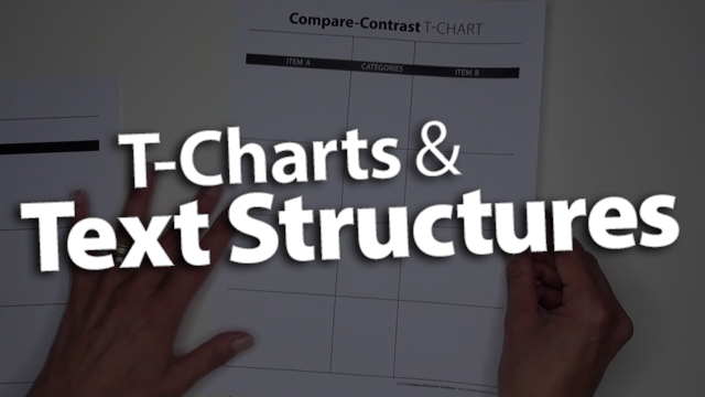 'Adjust a T-Chart to Fit Various Text Structures'