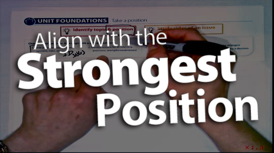 'Align with the Strongest Position'
