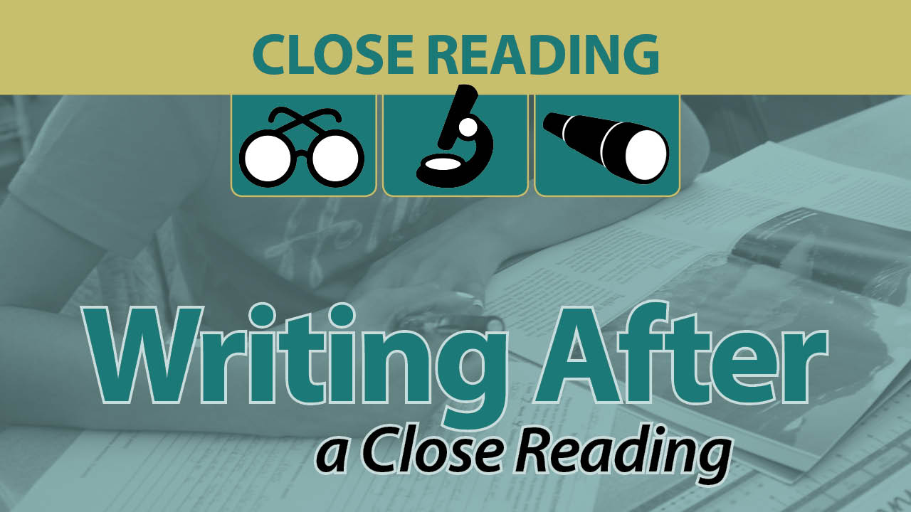 Writing After a Close Reading Secret Site