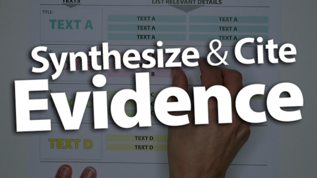 'Synthesize & Cite Evidence from Multiple Sources'