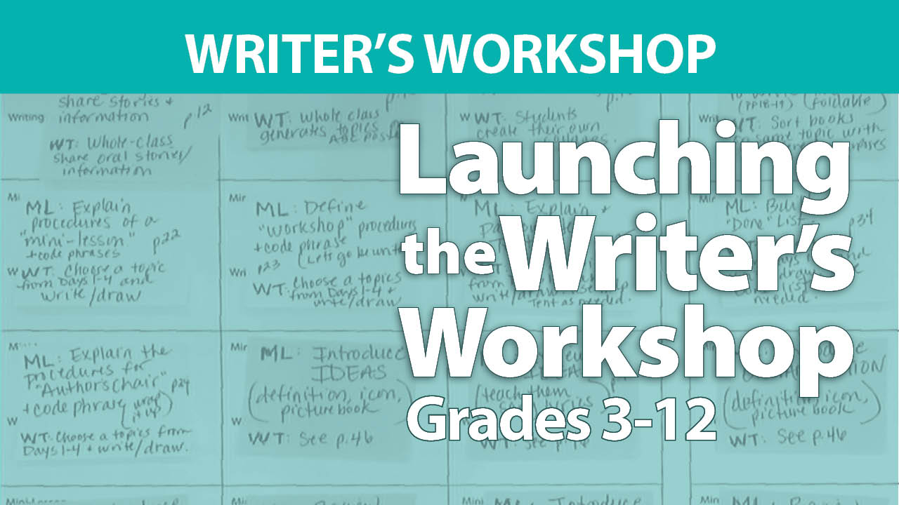 Launching the Writer's Workshop: Grades 3-12
