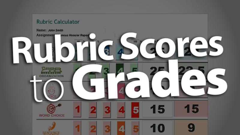 'Convert Rubric Scores to Grades'