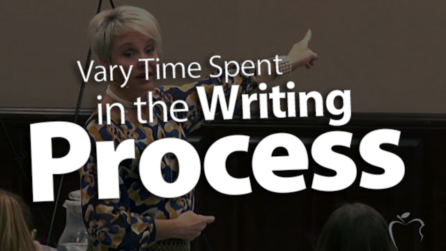 'Vary Time Spent in Writing the Process'