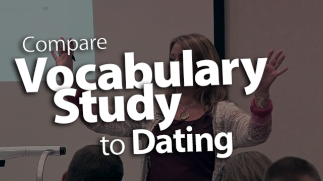 'Compare Vocabulary Study to Dating'