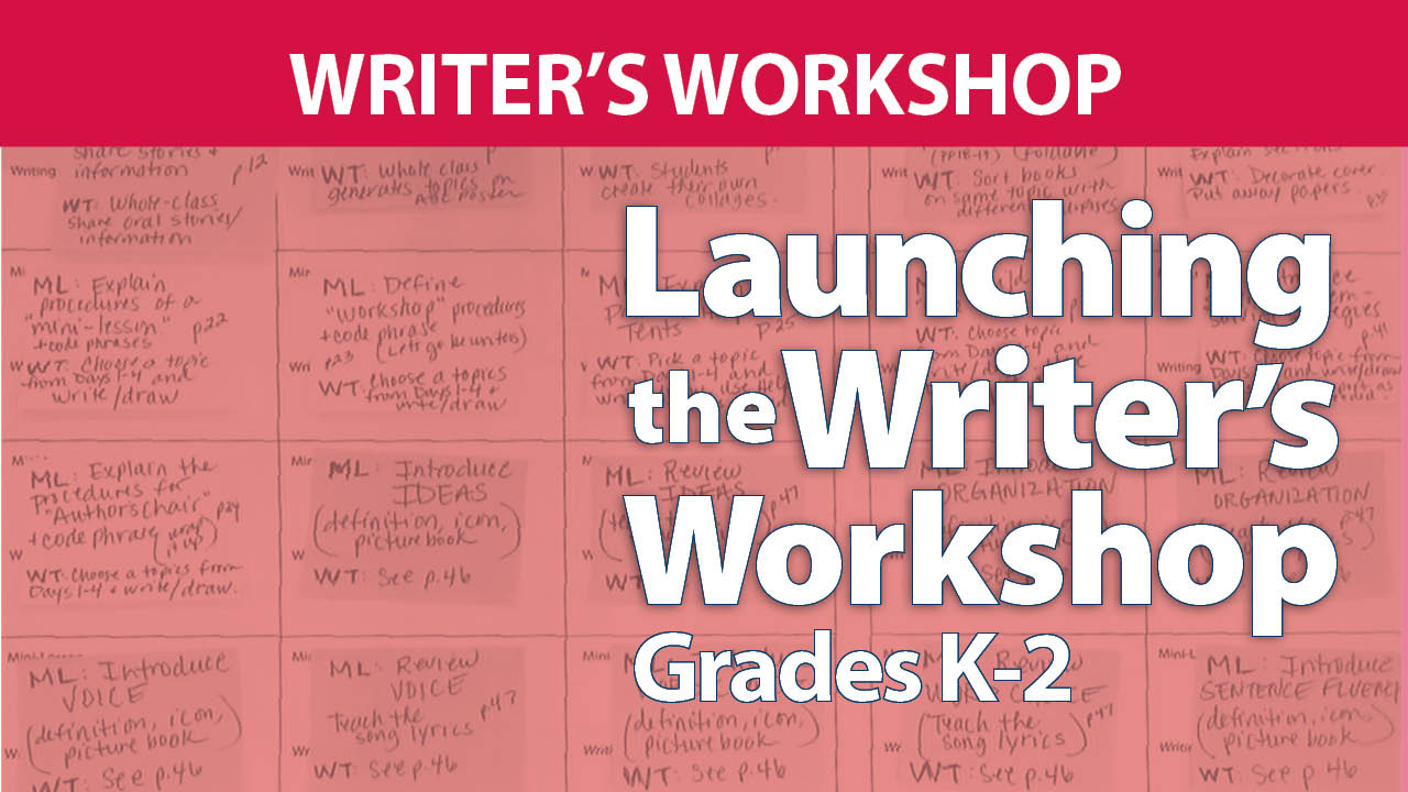 Launching the Writer's Workshop Grades K-2 Digital Resources