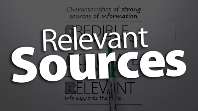 """'Define What Makes a Source """"Relevant""""'"""