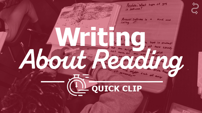 Culminate a Close Reading with a Writing Task