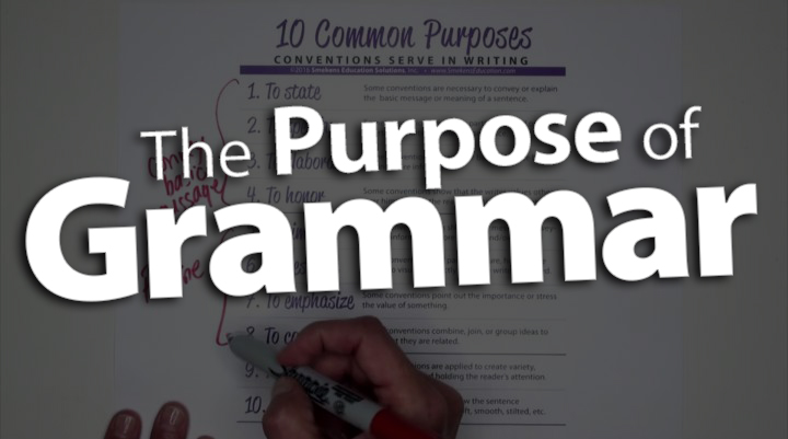 'Define the Purpose of Every Grammar Skill'