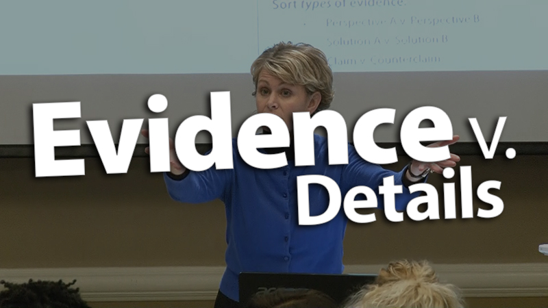 'Define Evidence Versus Just a Detail'