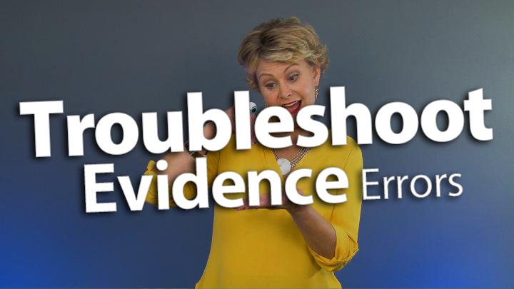 'Troubleshoot Evidence Errors in Reading Responses'