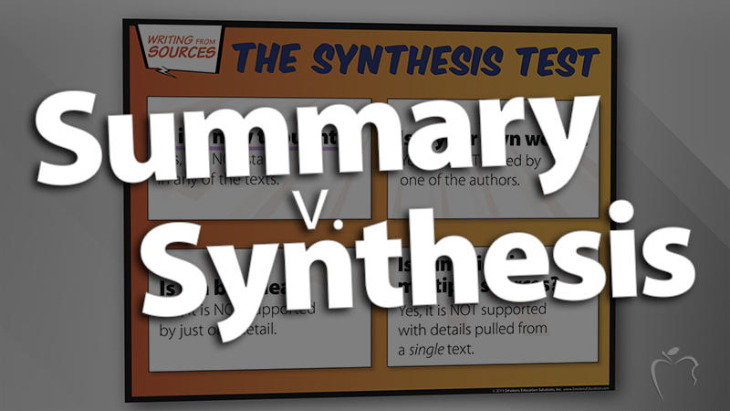 'Clarify Summary Versus Synthesis'