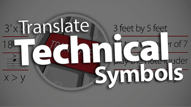 'Translate Technical Symbols to Words'