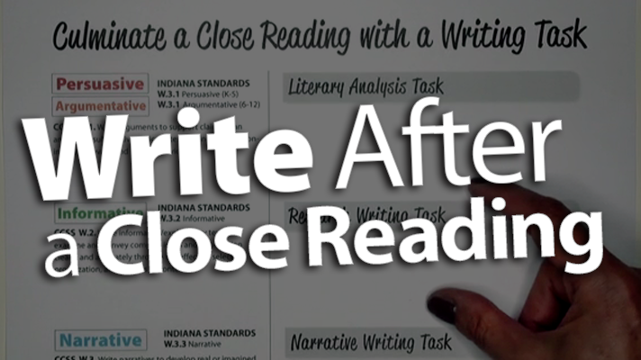 'Culminate a Close Reading with a Writing Task'