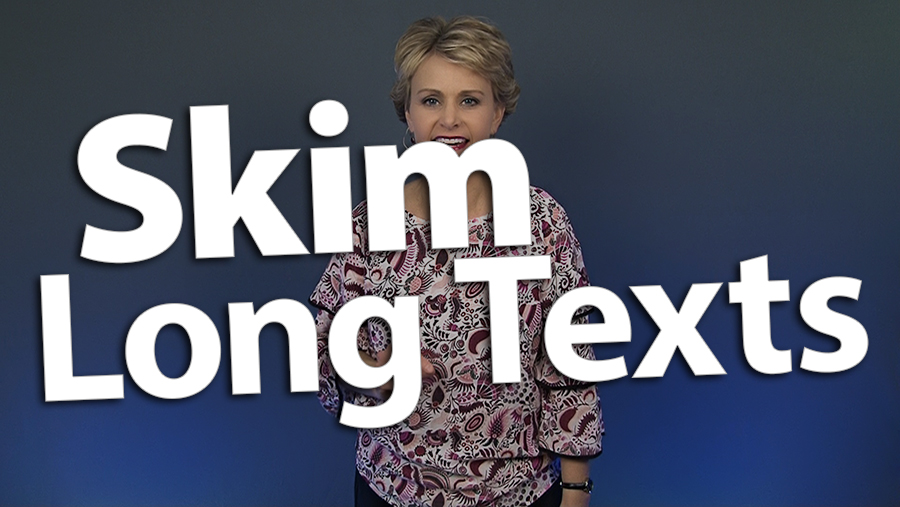 'Teach Readers How to Skim Long Texts'