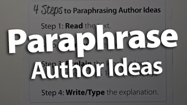'Paraphrase Author Ideas'