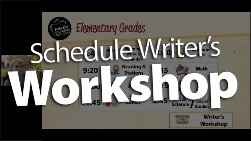 'Fit the Writer's Workshop into your Schedule'