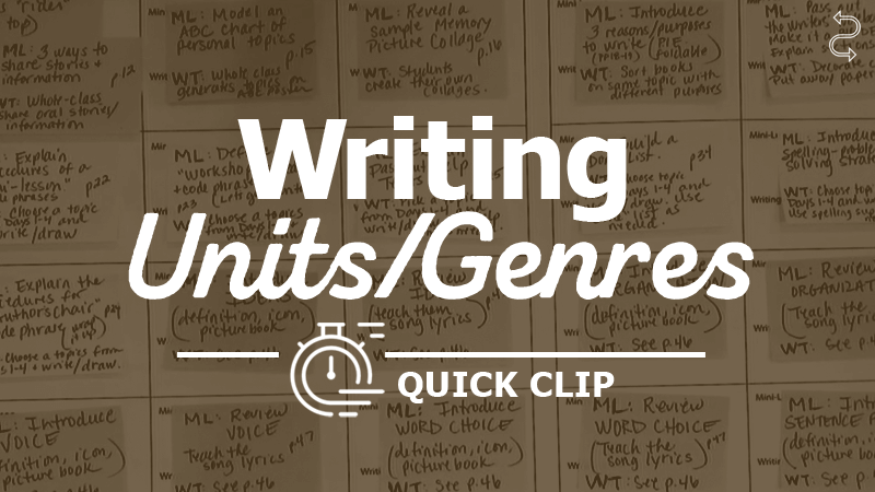 Break Down Large Units into Small-Dose Writing Experiences