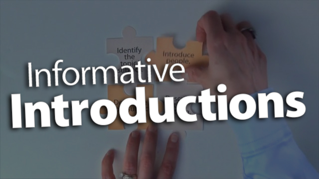 'Piece Together Informative Introductions'
