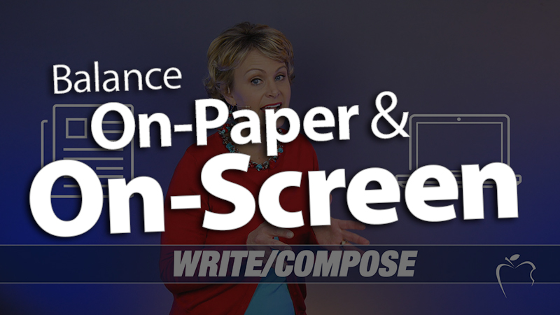 'Balance On-paper and On-screen Experiences'
