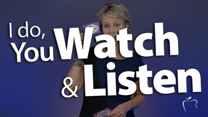 'Teach Explicitly--I do, You Watch & Listen'