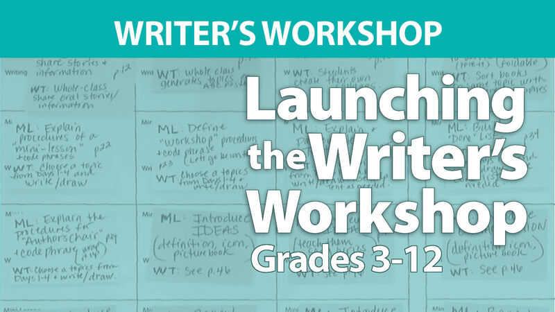 Launching the Writer's Workshop Grades 3-12 Digital Resources