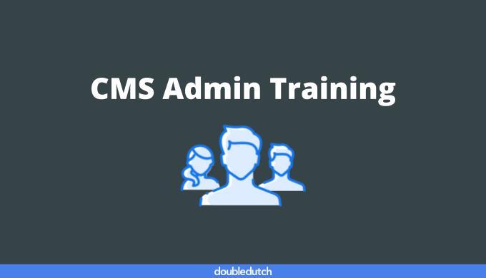 CMS Admin Training
