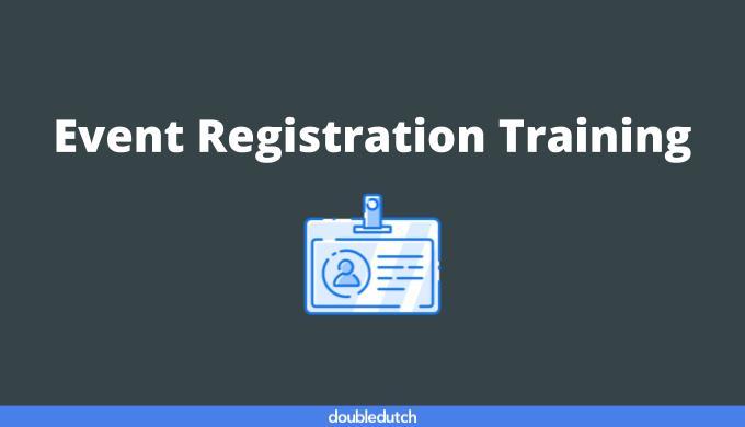 Event Registration Training