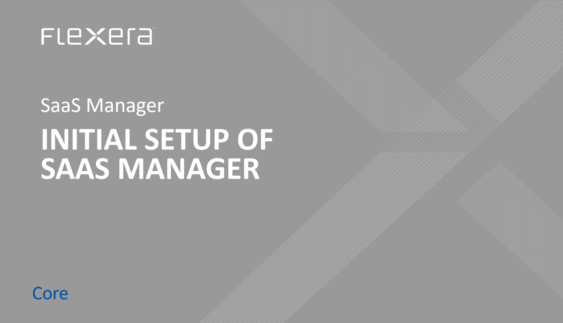 Initial Setup of SaaS Manager (HR, SSO & ERP Connections)