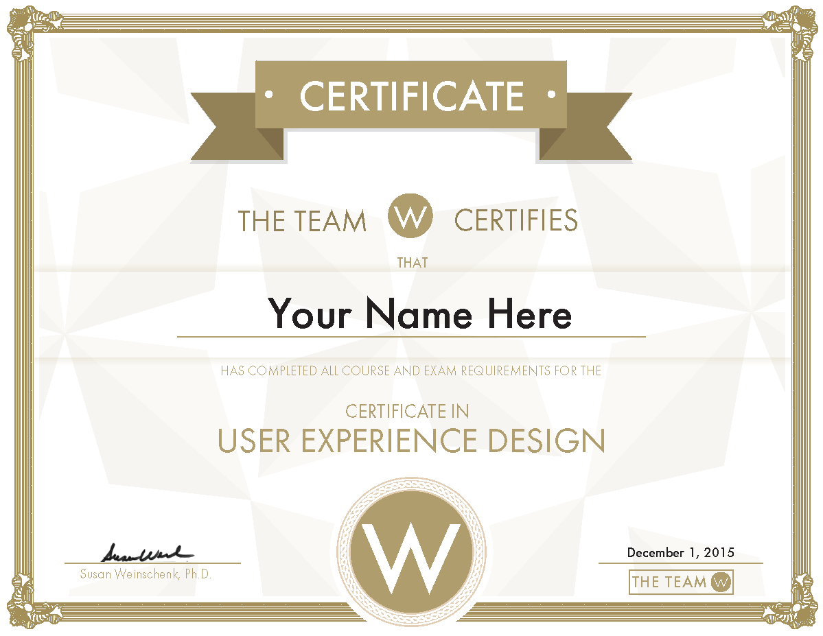 UX Certificate Completion