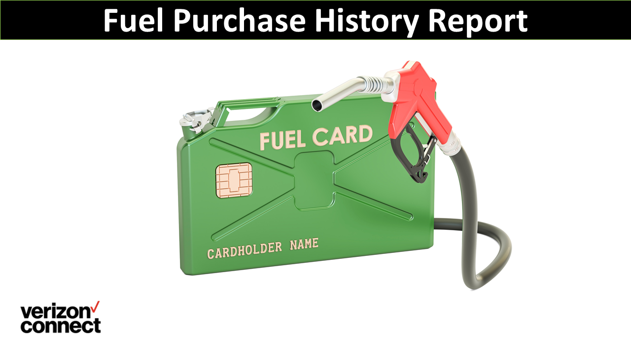 Fuel Purchase History Report