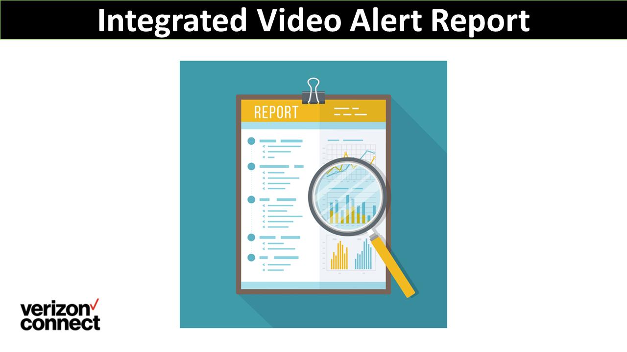 Integrated Video Alert Report