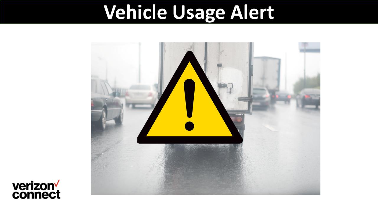 Vehicle Usage Alert