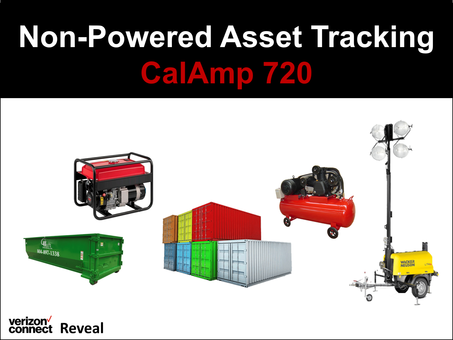 Reveal Non-Powered Asset Tracking (CalAmp 720)  eTutorial