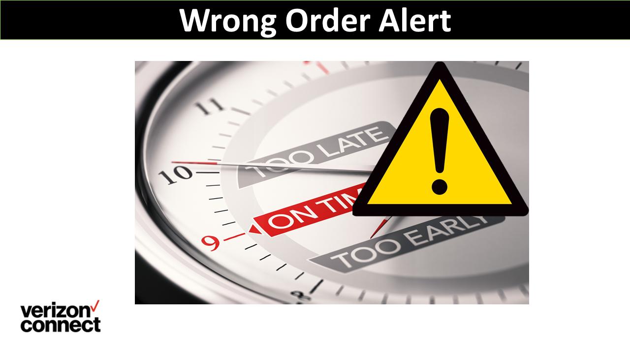 Wrong Order Alert