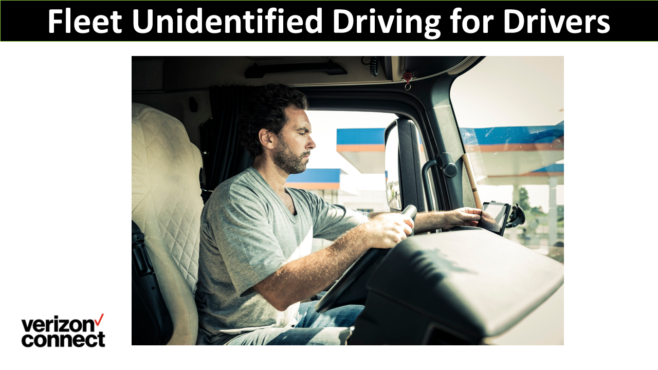Fleet Unidentified Driving for Drivers