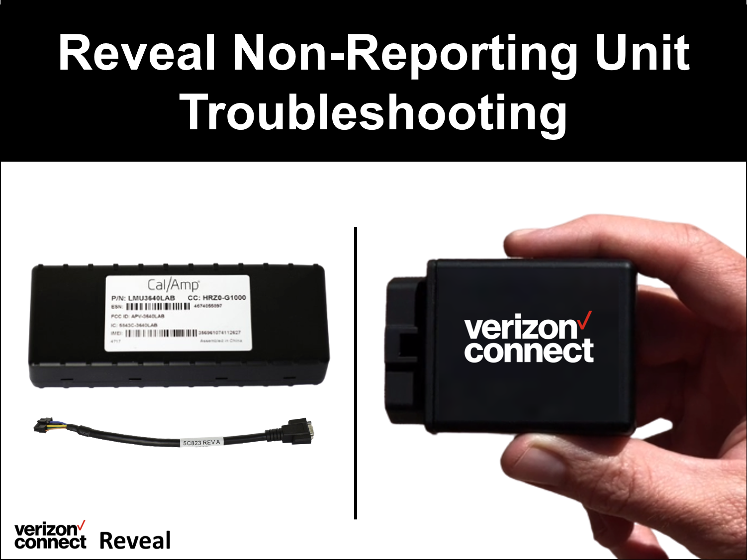 Reveal Non-Reporting Unit Troubleshooting eTutorial