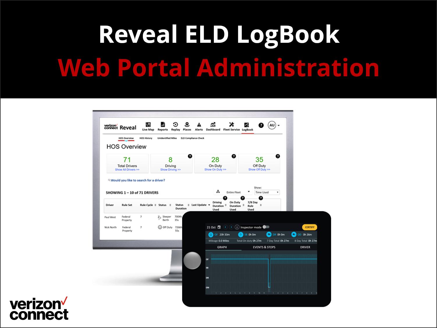 Reveal LogBook ELD – Web Portal Admin eTutorial