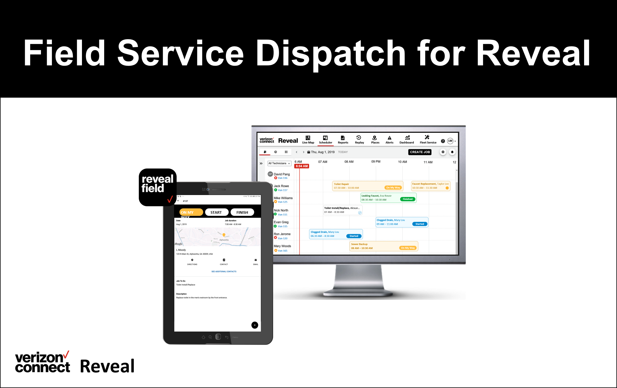 Field Service Dispatch for Reveal