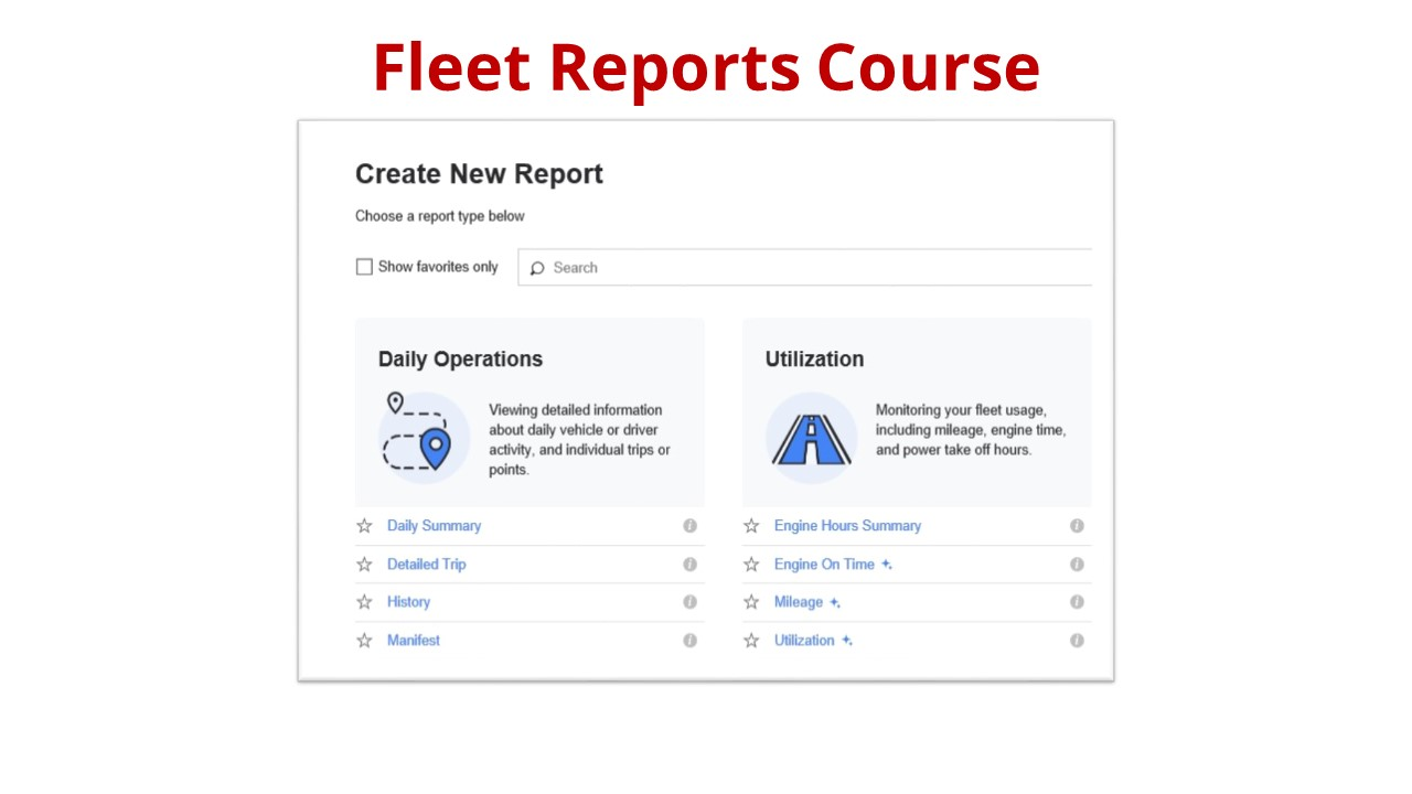 Fleet Reports Course