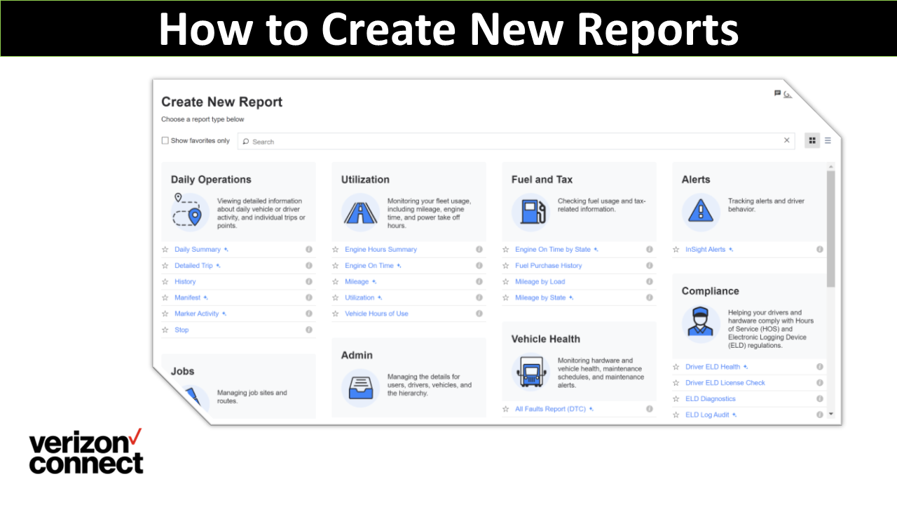 How to Create New Reports