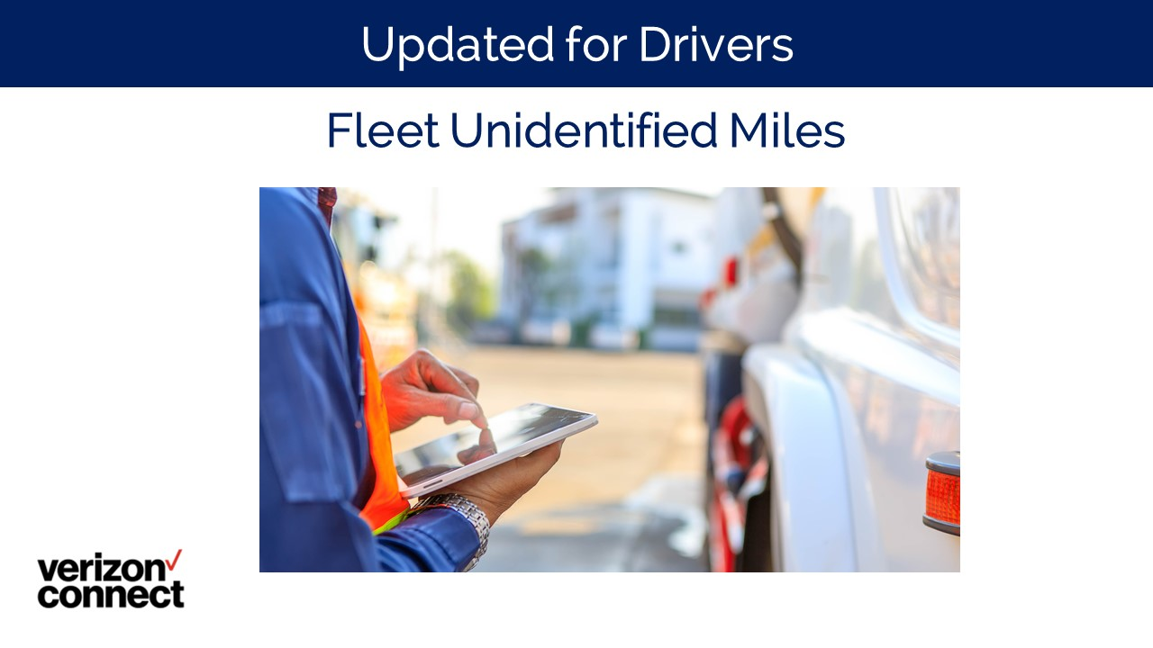 Fleet Unidentified Miles for Drivers
