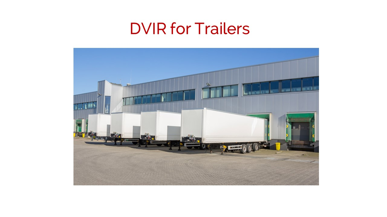 Fleet DVIR for Trailers
