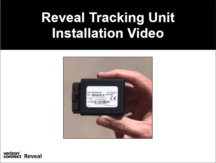 Reveal Tracking Unit Installation Video