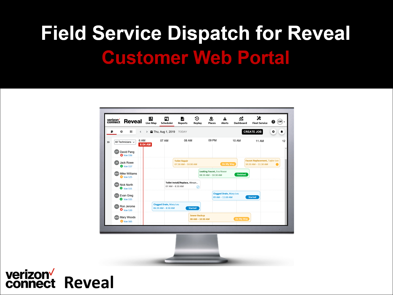 Verizon Connect Field Service Dispatch for Reveal eTutorial (for admin/dispatchers)
